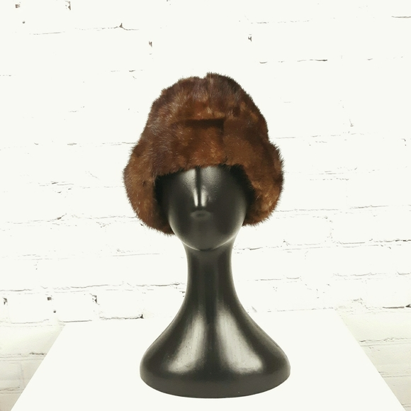 VINTAGE Women's Natural Brown Mink Hat